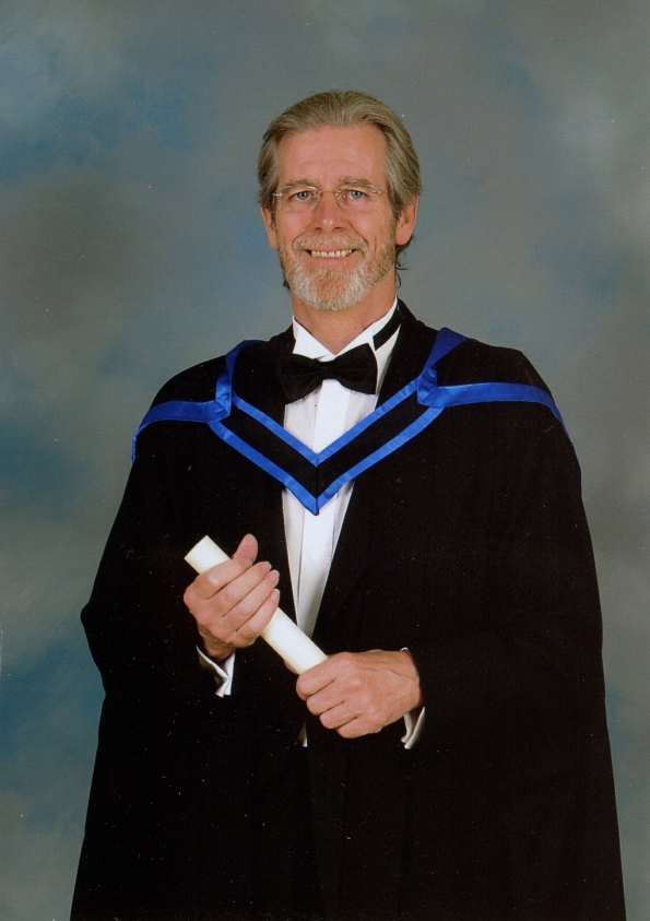 Robert on the day he received his Masters Degree in Music