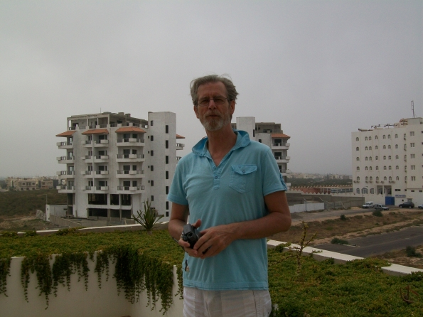 Bob on balcony Agadir