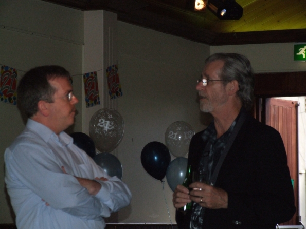 Eamonn and Robert at Edward's 21st birthday party ~ brothers in arms