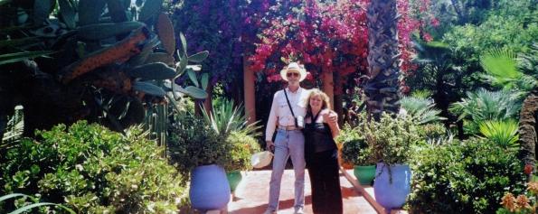 In Moroccan garden