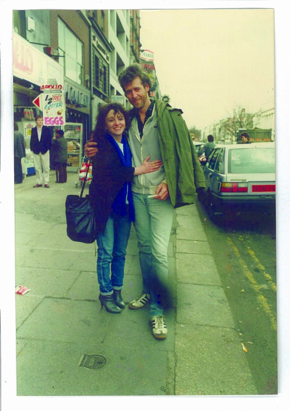 Angela and Bob, O'Connell Street, 1985