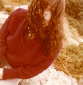 On Killiney Hill many years ago - still can't control my hair...